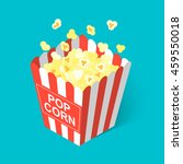 isometric popcorn icon  vector... | Shutterstock .eps vector #459550018