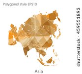 asia map in geometric polygonal ... | Shutterstock .eps vector #459551893