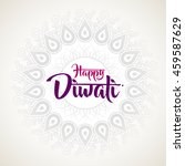 happy diwali with ornament of... | Shutterstock .eps vector #459587629