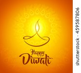 happy diwali diya oil lamp... | Shutterstock .eps vector #459587806