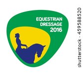 equestrian dressage icon  sport ... | Shutterstock .eps vector #459588520