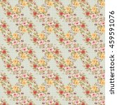 seamless floral pattern with... | Shutterstock .eps vector #459591076