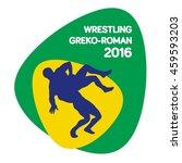 classic wrestling icon  vector... | Shutterstock .eps vector #459593203