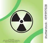 flat radiation icon | Shutterstock .eps vector #459597028