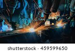 robots welding automotive part...   Shutterstock . vector #459599650