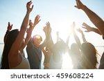 dancing friends | Shutterstock . vector #459608224