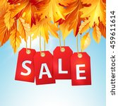 autumn sale banner with... | Shutterstock .eps vector #459611614