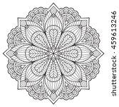 flower mandala. vintage... | Shutterstock .eps vector #459613246