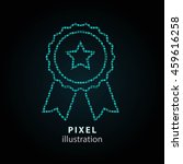 award   pixel icon. vector... | Shutterstock .eps vector #459616258