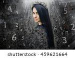 woman's face  magic of figures  ... | Shutterstock . vector #459621664