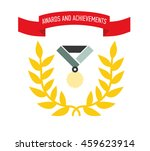 icon award. medals and the... | Shutterstock .eps vector #459623914