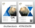 flyer design background blue...   Shutterstock .eps vector #459633658