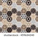 luxury oriental hexagonal... | Shutterstock .eps vector #459634240