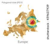 europe map in geometric...   Shutterstock .eps vector #459637939