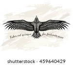 detailed hand drawn eagle for...   Shutterstock .eps vector #459640429