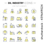 set vector line icons with open ... | Shutterstock .eps vector #459649024