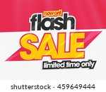 flash sale for limited time... | Shutterstock .eps vector #459649444