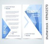 vector modern flyer  poster or... | Shutterstock .eps vector #459652570
