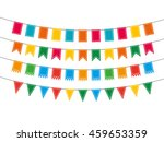 colorful pennant bunting... | Shutterstock .eps vector #459653359