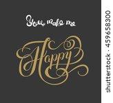 gold handwritten inscription... | Shutterstock . vector #459658300