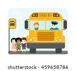 illustration of school kids... | Shutterstock .eps vector #459658786
