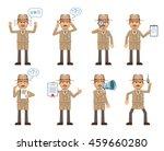 set of detective characters... | Shutterstock .eps vector #459660280