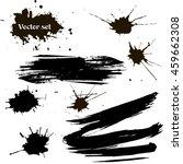 vector set of ink splashes  ink ... | Shutterstock .eps vector #459662308
