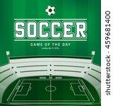 soccer football vector poster... | Shutterstock .eps vector #459681400