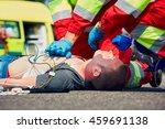 cardiopulmonary resuscitation....   Shutterstock . vector #459691138