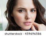 close up portrait of beautiful... | Shutterstock . vector #459696586
