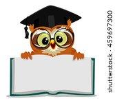 vector illustration of an owl... | Shutterstock .eps vector #459697300