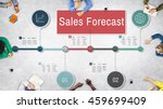 sales forecast strategy... | Shutterstock . vector #459699409