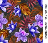 seamless tropical flower  plant ... | Shutterstock . vector #459705700