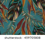 tropical colorful background... | Shutterstock . vector #459705808