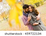 loving young couple in the... | Shutterstock . vector #459722134