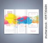vector modern flyer  poster or... | Shutterstock .eps vector #459730684