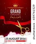grand opening invitation card....   Shutterstock .eps vector #459741529