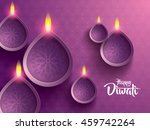 happy diwali. traditional... | Shutterstock .eps vector #459742264