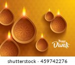 happy diwali. traditional... | Shutterstock .eps vector #459742276