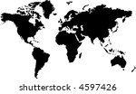 isolated black and white map of ... | Shutterstock .eps vector #4597426