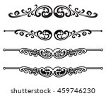 calligraphic design elements | Shutterstock .eps vector #459746230