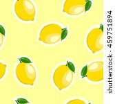 lemon same sizes sticker yellow ... | Shutterstock .eps vector #459751894