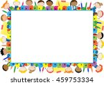colored frame for the school... | Shutterstock .eps vector #459753334
