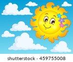 happy spring sun theme image 2  ... | Shutterstock .eps vector #459755008