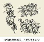 Flowers. Hand Drawn Sketch...