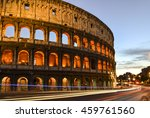 roman coliseum at sunset with... | Shutterstock . vector #459761560