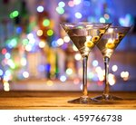 Two Glasses Of Martini Coctail...