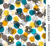 seamless pattern with beetles... | Shutterstock .eps vector #459772729