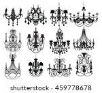 classic chandelier set... | Shutterstock .eps vector #459778678