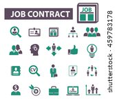job contract icons | Shutterstock .eps vector #459783178